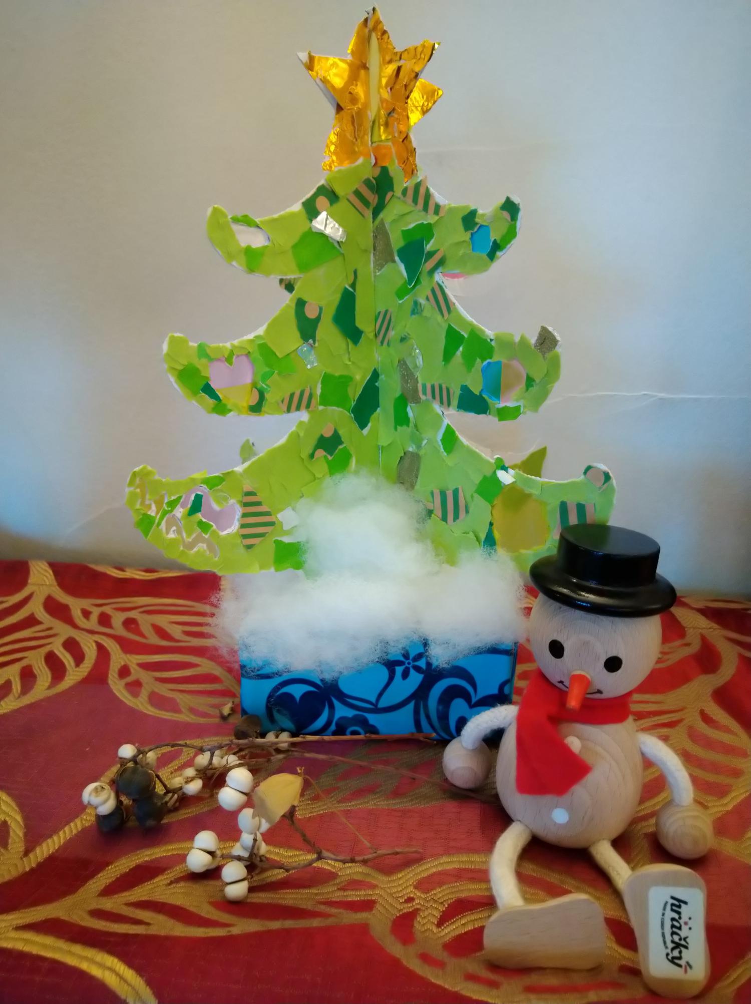 京都府紙器段ボール箱工業組合クリスマスツリーデザインコンテスト銀賞