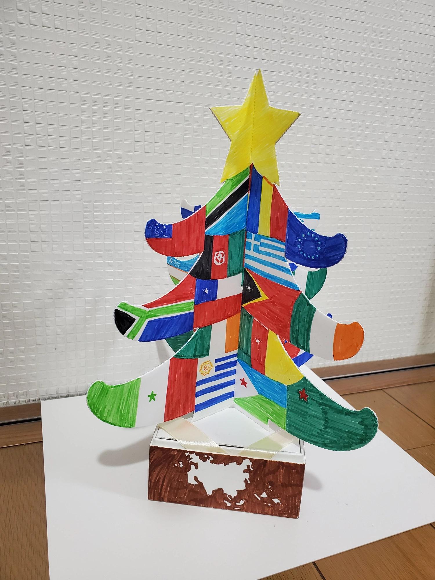 京都府紙器段ボール箱工業組合クリスマスツリーデザインコンテスト世界平和賞