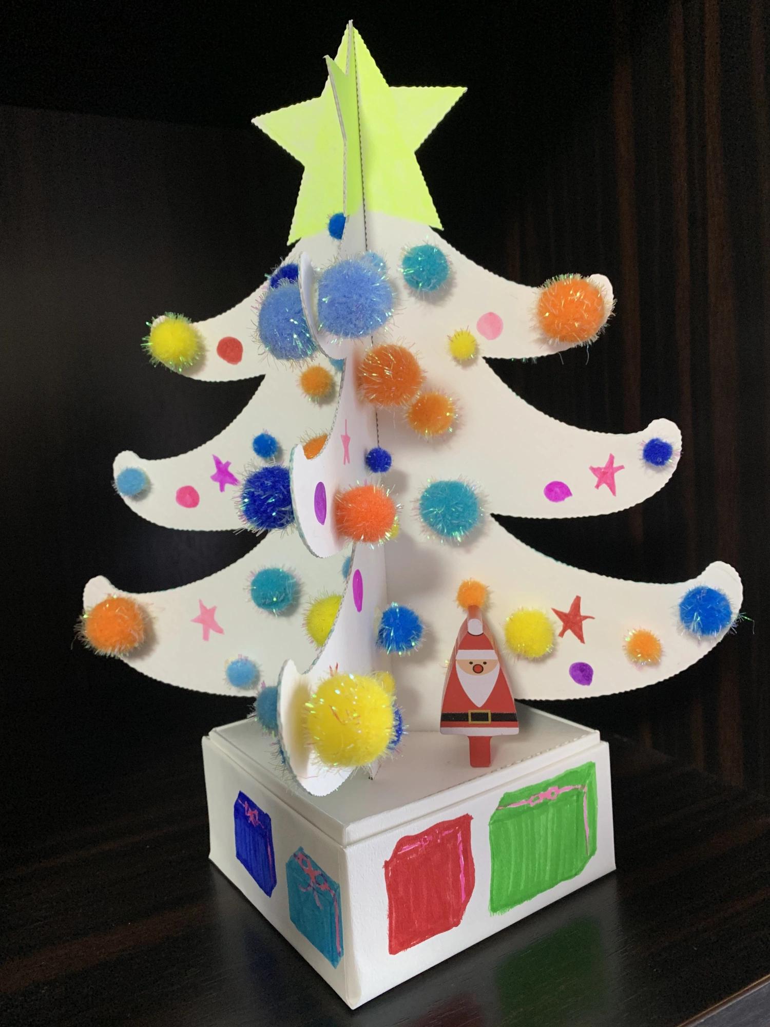 京都府紙器段ボール箱工業組合クリスマスツリーデザインコンテスト銅賞