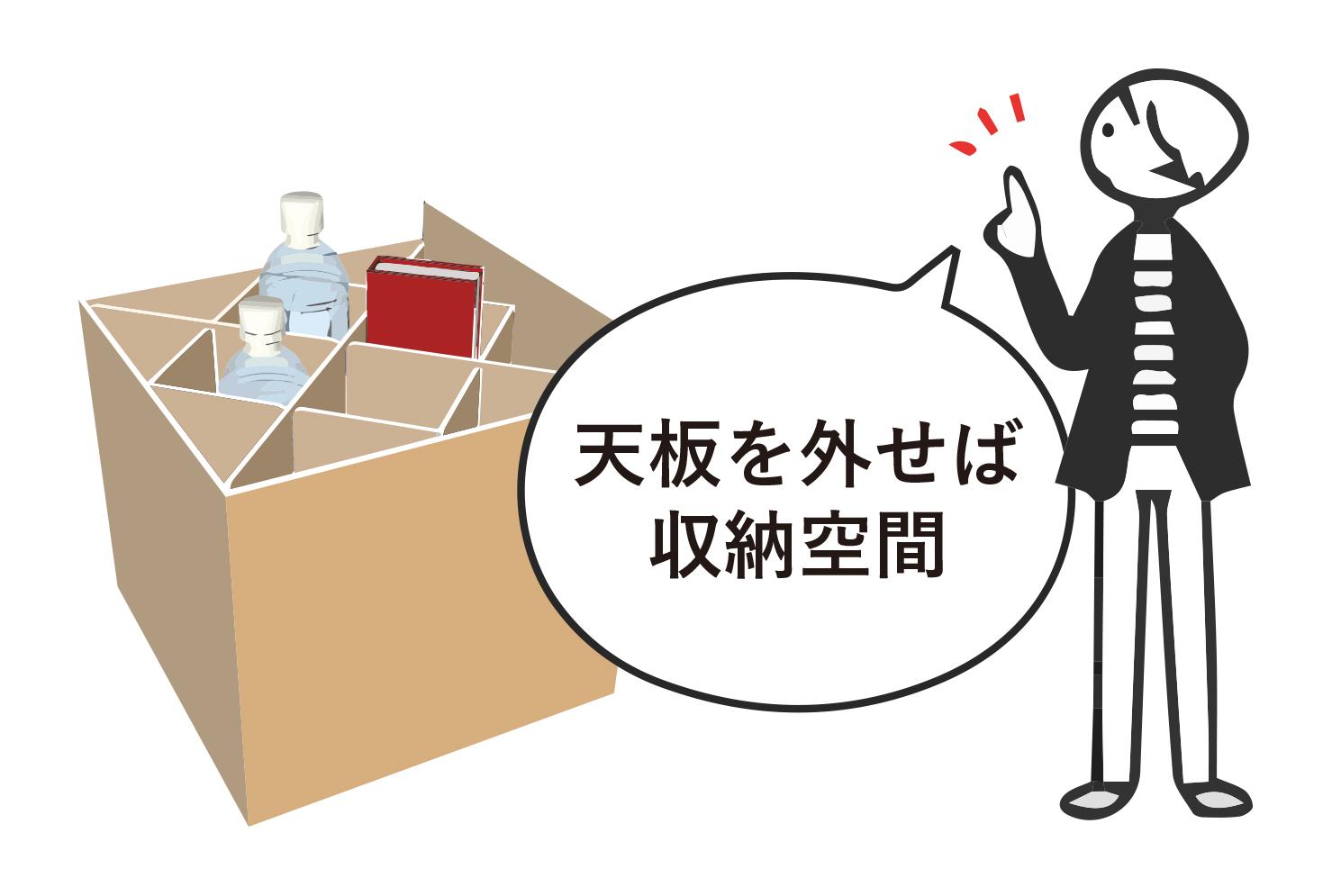 多機能な使い方!ベッドの中は 収納空間としても使えます!